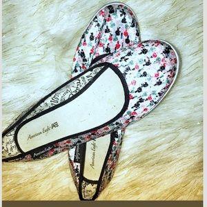 American Eagle sequin shoes 9.5 floral